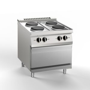 HBG2000 ELECTRIC, RANGES, ELECTRIC, OVEN, GN2/1, SILKO, NECE74E ELECTRIC OVEN WITH FOUR ELECTRIC RANGES SILKO NECE74E