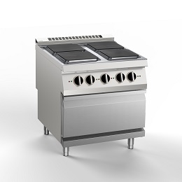 HBG2000 ELECTRIC OVEN WITH FOUR ELECTRIC RANGES SILKO NECE94E ELECTRIC OVEN WITH FOUR ELECTRIC RANGES SILKO NECE94E