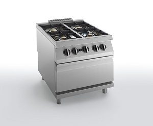 HBG2000 ELECTRIC OVEN WITH FOUR BURNERS SILKO NECG74E ELECTRIC OVEN WITH FOUR BURNERS SILKO NECG74E